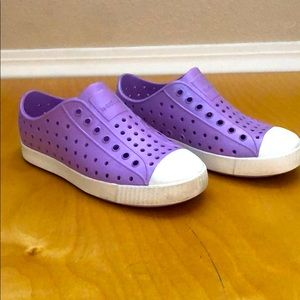 Girls Native Shoes in Lavender
